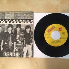 "Discos de vinilo: THE ROLLING STONES - RESPETABLE - PROMO SINGLE 7"" - 1978 SPAIN - EMI ODEON. Lote 264244776"