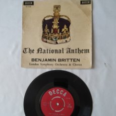 Discos de vinilo: BENJAMIN BRITTEN LONDON SYMPHONY ORCHESTRA,THE NATIONAL ANTHEM. Lote 264249592