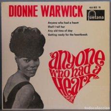 Discos de vinil: EP. DIONNE WARWICK. ANYONE WHO HAD A HEART. Lote 264254728