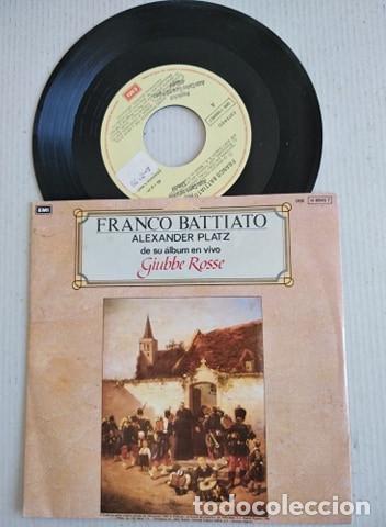 FRANCO BATTIATO EN ESPAÑOL : ALEXANDER PLATZ + CARTA AL GOBERNADOR DE LIBIA (Música - Discos - Singles Vinilo - Canción Francesa e Italiana)