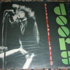 Disques de vinyle: THE DOORS – ALIVE, SHE CRIED - LP 1983. Lote 264302760