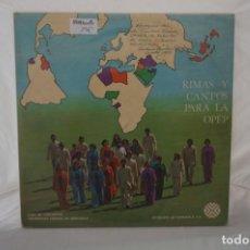 Discos de vinilo: # VINILO 12´´ - 2 X LP - RIMAS Y CANTOS PARA LA OPEP - RHYMES AND SONGS FOR OPEC. Lote 264326244