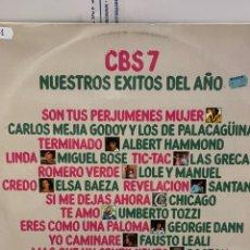 Disques de vinyle: VIN1418 CBS 7 NUESTROS ÉXITOS DEL AÑO VINILO SEGUNDA MANO. Lote 264332212