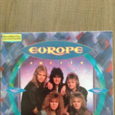 "Discos de vinilo: EUROPE. SINGLE "" CARRIE "". EDICIÓN INGLESA CON PÓSTER A TODO COLOR.1987. EPIC RECORDS. OPORTUNIDAD.. Lote 264340108"