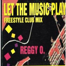 Discos de vinilo: REGGY O. - LET THE MUSIC PLAY - MAXI SINGLE 1994 - ED. ESPAÑA. Lote 287703378