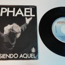 Disques de vinyle: 0521- RAPHAEL YO SIGO SIENDO AQUEL- VIN 7 SINGLE POR G+ DIS VG. Lote 264353804
