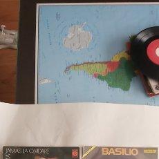Discos de vinilo: BASILIO 3 DISCOS VINILOS. DE 45 SIMGLE.. Lote 264371904