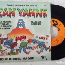 Disques de vinyle: JEAN YANNE, SINGLE EDICIÓN FRANCIA, 1961, SELLO BARCLAY 71.025. Lote 264148816