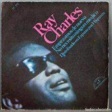 Discos de vinil: EP. RAY CHARLES SINGLE. EMPEZAMOS DE NUEVO. Lote 264443039