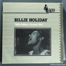 Disques de vinyle: LP DE BILLIE HOLIDAY: GREATEST HITS. ARIOLA, 1983. MUY BUEN ESTADO.. Lote 264465664