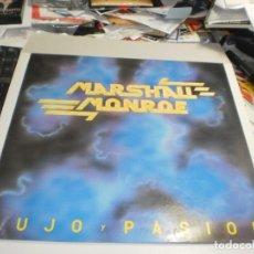Discos de vinilo: LP MARSHALL MONROE. LUJO Y PASIÓN. LADY ALICIA RECORDS 1988 CON INSERTO (PROBADO, BIEN Y SEMINUEVO). Lote 264465969