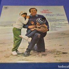 Discos de vinilo: LP UK 70S ANDY WILLIAMS HAPPY HEART BUEN ESTADO. Lote 264488554