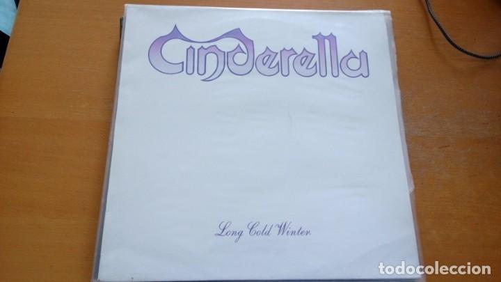 CINDERELLA LONG COLD WINTER LP SPAIN 1988 CON INSERTO (Música - Discos - LP Vinilo - Heavy - Metal)