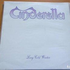 Discos de vinilo: CINDERELLA LONG COLD WINTER LP SPAIN 1988 CON INSERTO. Lote 264534129