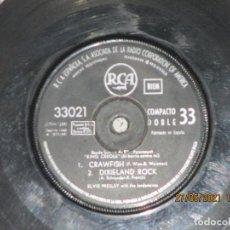 Disques de vinyle: ELVIS PRESLEY & THE JORDANAIRES - KING CREOLE / EL BARRIO CONTRA MI -EP -SPAIN - RCA - REF 33021 - L. Lote 264540619