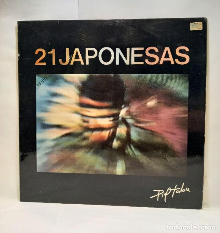 """21 JAPONESAS - PIEL TABU. VINILO (MAXI-SINGLE, 12""""). NOLA. CCM2 (Música - Discos de Vinilo - Maxi Singles - Grupos Españoles de los 70 y 80)"""