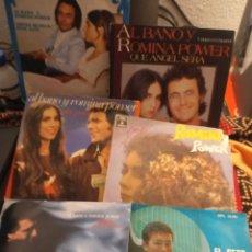Discos de vinilo: LOTE DE 6 SINGLES ALBANO Y ROMINA POWER. Lote 264558049