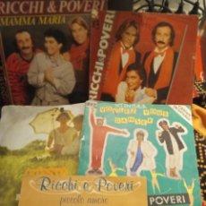 Discos de vinilo: LOTE 5 SINGLES RICCHIB& POVERI. Lote 264558624