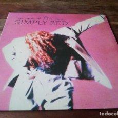 Dischi in vinile: SIMPLY RED - A NEW FLAME - LP ORIGINAL WEA WARNER ESPAÑA 1989 CON ENCARTE Y LETRAS. Lote 264561249