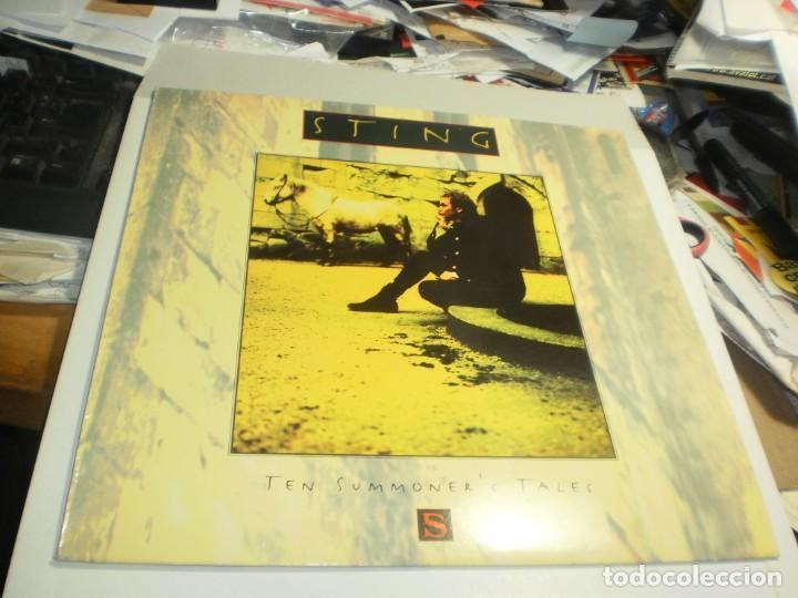 LP STING. TEN SUMMONER'S TALES. AM RECORDS 1993 SPAIN CON INSERTO DE LETRAS (PROBADO, SEMINUEVO) (Música - Discos - LP Vinilo - Pop - Rock Internacional de los 90 a la actualidad)