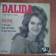 Discos de vinilo: DALIDA - PEPE + 3 (SG) 1961 CON PAUL MAURIAT Y SU ORQUESTA. Lote 264729309