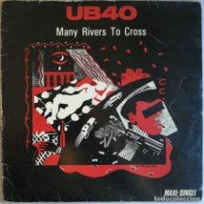 Discos de vinilo: UB40, MANY RIVERS TO CROSS, DEP INTERNATIONAL, VIRGIN F-601.708. Lote 264749294