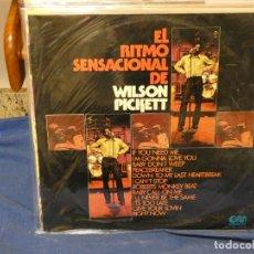 Discos de vinilo: LP FUNK SOUL GRAMUSIC ESPAÑA 1974 EL RITMO SENSACIONAL DE WILSON PICKETT LEVES SEÑALES USO. Lote 264781974
