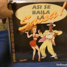 Discos de vinilo: LP ASI SE BAILA LA SALSA 1990 VARIOS ARTISTAS, VER TAPA, ESTADO GENERAL DECENTE. Lote 264782739