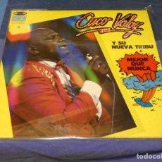 Discos de vinilo: LP CUCUO VALOY Y SU NUEVA TRIBU MEJOR QUE NUNCA 1985 BUEN ESTADO GENERAL. Lote 264789159