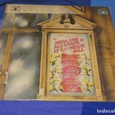 Discos de vinilo: DOBLE LP JAZZ ESPAÑA 77 BIRDLAND ALL STARS AT CARNEGIE HALL 1977 CHARLIE PARKER SARAH VAUGHAN. Lote 264790194