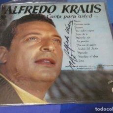 Discos de vinilo: LP ALFREDO KRAUS CANTA PARA USTED, ED AÑOS 70 BUEN ESTADO DEDICADO POR ARTISTA. Lote 264790954