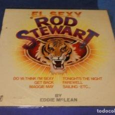 Discos de vinilo: LP REPUGNANTE EXPLOTACION GASOLINERA EL SEXY ROD STEWART 1978 ESTADO ACPETABLE. Lote 264791524