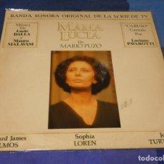 Discos de vinilo: LP BSO OST BANDA SONORA DE LA PELI DE MARIO PUZO MAMA LUCIA LUCIO DALA SOPHIA LOREN. Lote 264793954