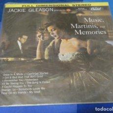 Discos de vinilo: DESDE UN EURO A TU RIESGO JACKIE GLEASON MUSIC MARTINI & MEMORIES UNA LINEA NOTORIA NO DRAMATICA. Lote 264799339