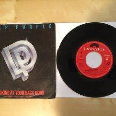 "Discos de vinilo: DEEP PURPLE - KNOCKING AT YOUR BACK - SINGLE 7"" - SPAIN 1985 POLYDOR. Lote 264810949"