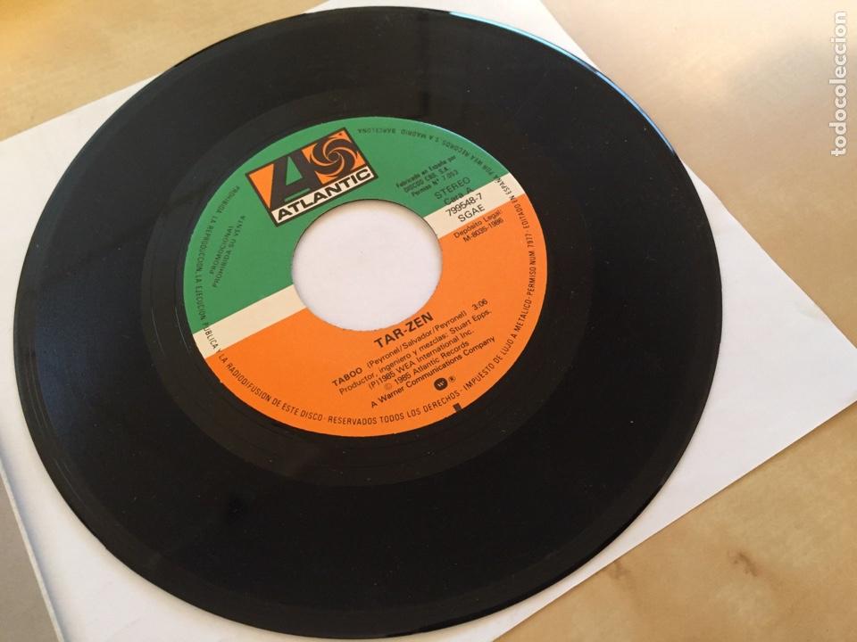 """Discos de vinilo: Tarzen - Taboo - PROMO SINGLE 7"""" - SPAIN 1985 ATLANTIC - Foto 2 - 264813419"""