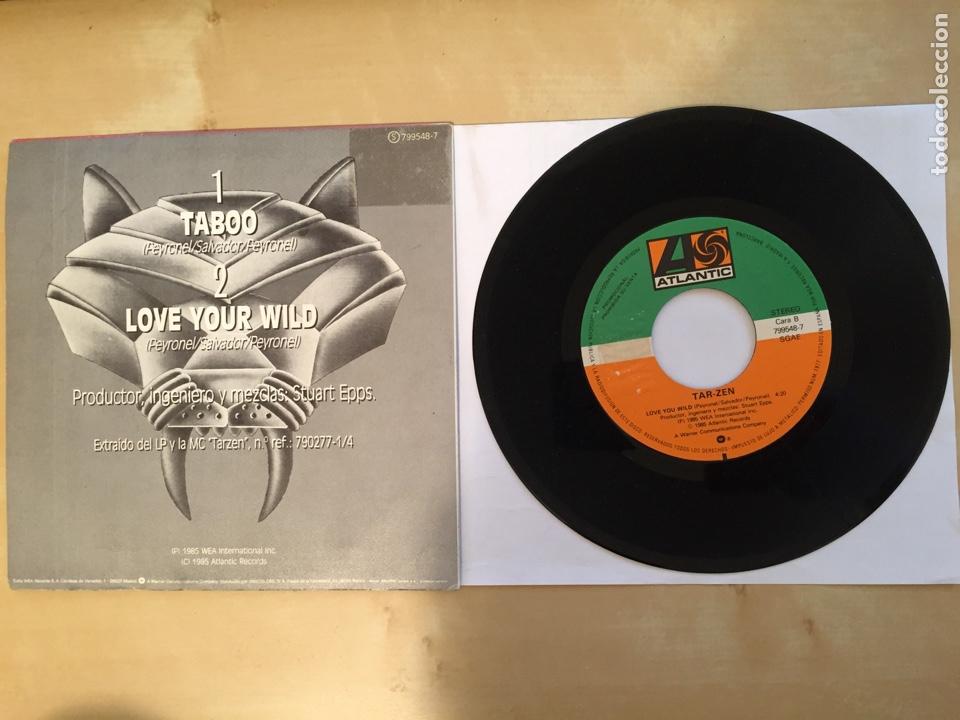 """Discos de vinilo: Tarzen - Taboo - PROMO SINGLE 7"""" - SPAIN 1985 ATLANTIC - Foto 3 - 264813419"""