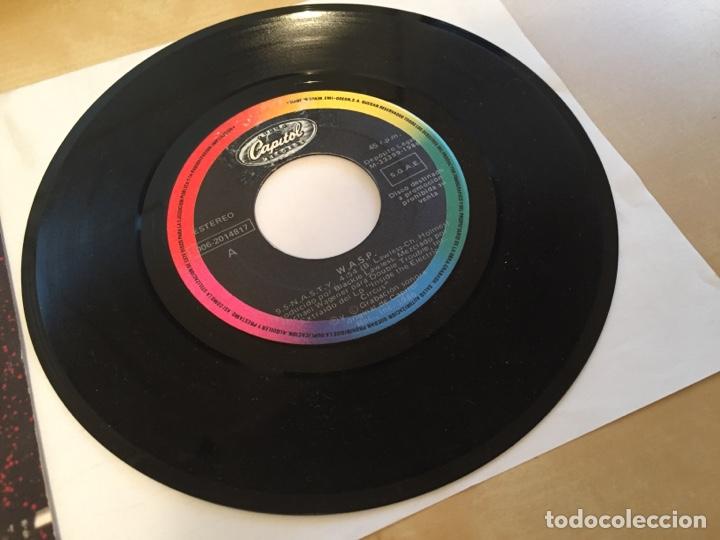 """Discos de vinilo: Wasp - 95 Nasty - PROMO SINGLE 7"""" - SPAIN 1986 - Capitol - Foto 2 - 264820324"""