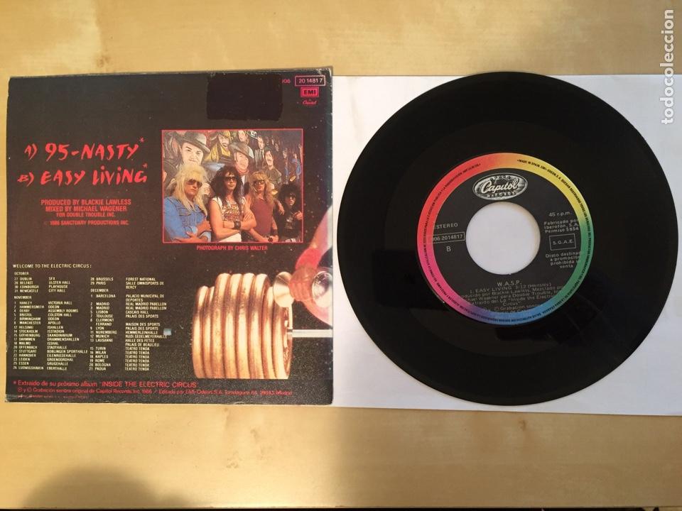 """Discos de vinilo: Wasp - 95 Nasty - PROMO SINGLE 7"""" - SPAIN 1986 - Capitol - Foto 3 - 264820324"""