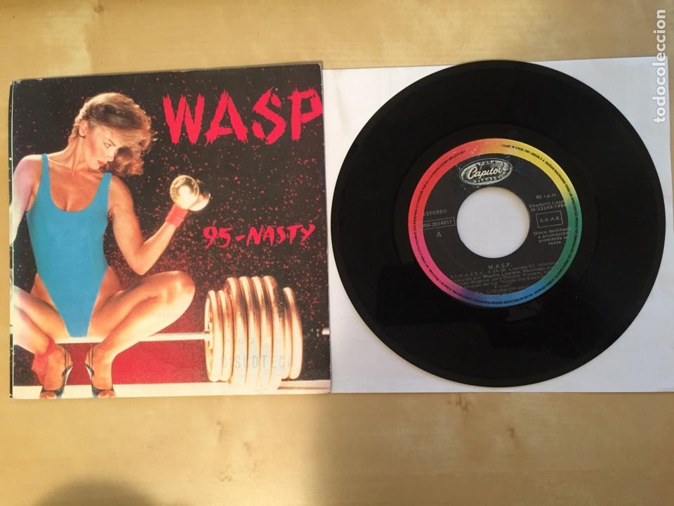 "WASP - 95 NASTY - PROMO SINGLE 7"" - SPAIN 1986 - CAPITOL (Música - Discos - Singles Vinilo - Heavy - Metal)"