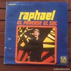 Disques de vinyle: RAPHAEL - AL PONERSE EL SOL . LP . 1967 USA. Lote 264832889