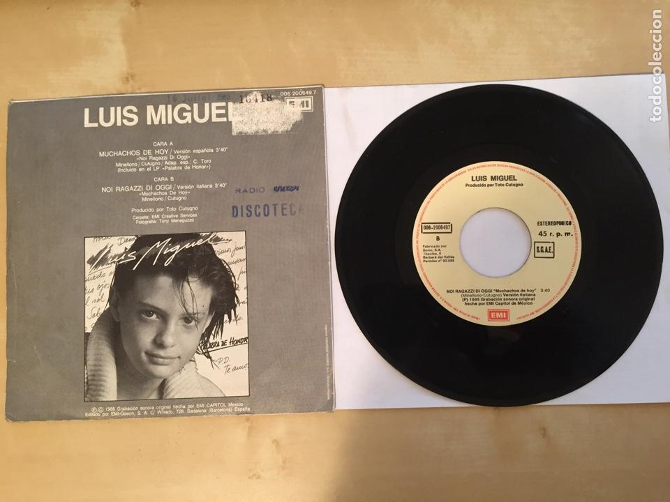 """Discos de vinilo: Luis Miguel - Muchachos De Hoy - PROMO SINGLE 7"""" - SPAIN 1985 EMI - Foto 3 - 264833244"""