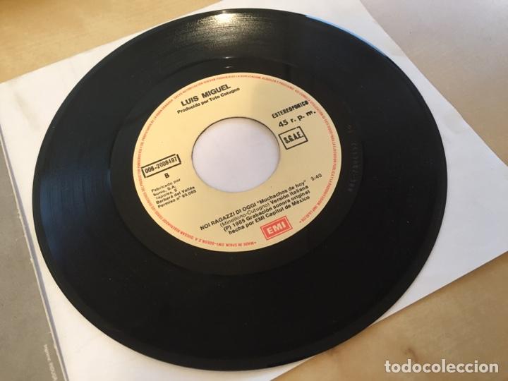 """Discos de vinilo: Luis Miguel - Muchachos De Hoy - PROMO SINGLE 7"""" - SPAIN 1985 EMI - Foto 4 - 264833244"""