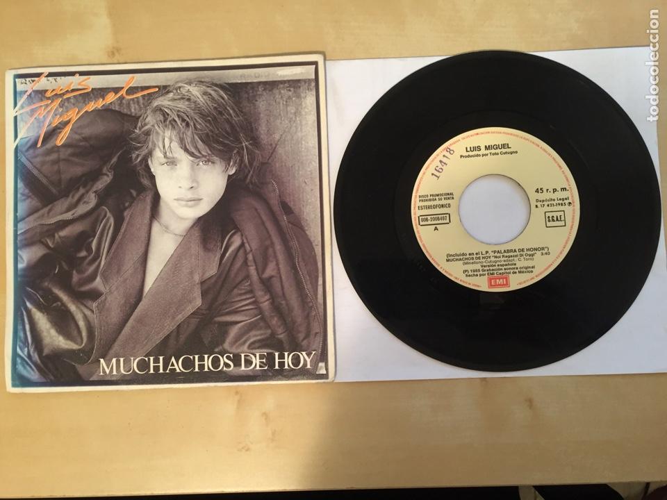 """LUIS MIGUEL - MUCHACHOS DE HOY - PROMO SINGLE 7"""" - SPAIN 1985 EMI (Música - Discos - Singles Vinilo - Grupos y Solistas de latinoamérica)"""