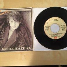 """Discos de vinilo: LUIS MIGUEL - MUCHACHOS DE HOY - PROMO SINGLE 7"""" - SPAIN 1985 EMI. Lote 264833244"""