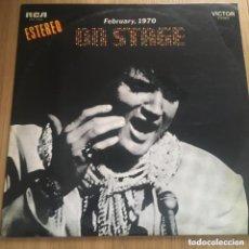 Discos de vinilo: ELVIS PRESLEY FEBRUARY 1970 ON STAGE LP **ENVIO CERTIFICADO EN PENINSULA GRATIS PEDIDOS +30€. Lote 264834839