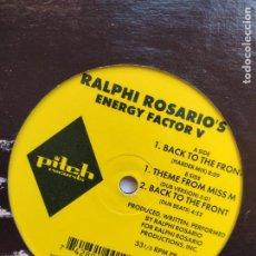 Discos de vinilo: RALPHI ROSARIO – ENERGY FACTOR V - 1996 PITCH RECORDS - HOUSE. Lote 264851249