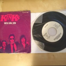 """Discos de vinilo: THE KINKS - INTRO: LOLA LOLA / ALL DAY AND ALL OF THE NIGHT - PROMO SINGLE 7"""" - SPAIN 1980. Lote 264852309"""