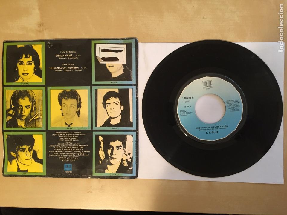 """Discos de vinilo: Lemo - Sibila Vane / Ordenador Hembra - SINGLE 7"""" - SPAIN 1981 - Foto 3 - 264855474"""