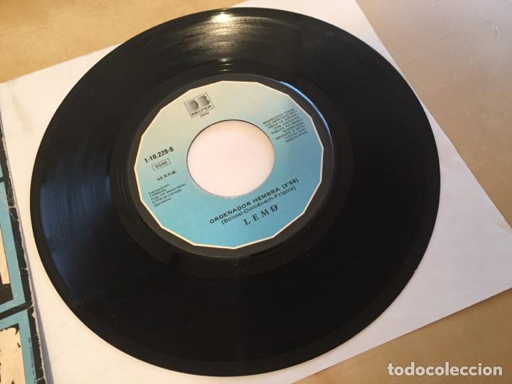 """Discos de vinilo: Lemo - Sibila Vane / Ordenador Hembra - SINGLE 7"""" - SPAIN 1981 - Foto 4 - 264855474"""